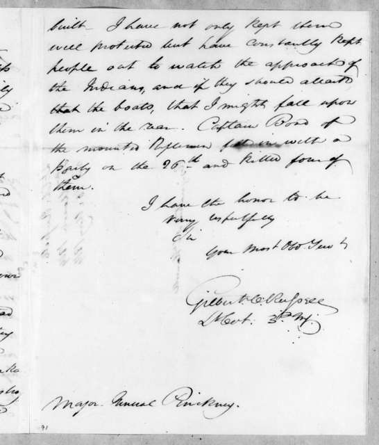 Gilbert C. Russell to Thomas Pinckney, March 30, 1814