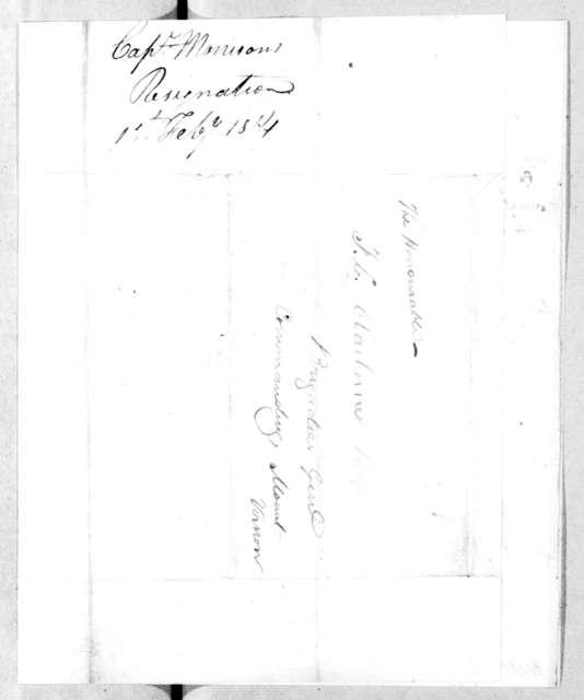 H. Morrison to Ferdinand L. Claiborne, February 4, 1814
