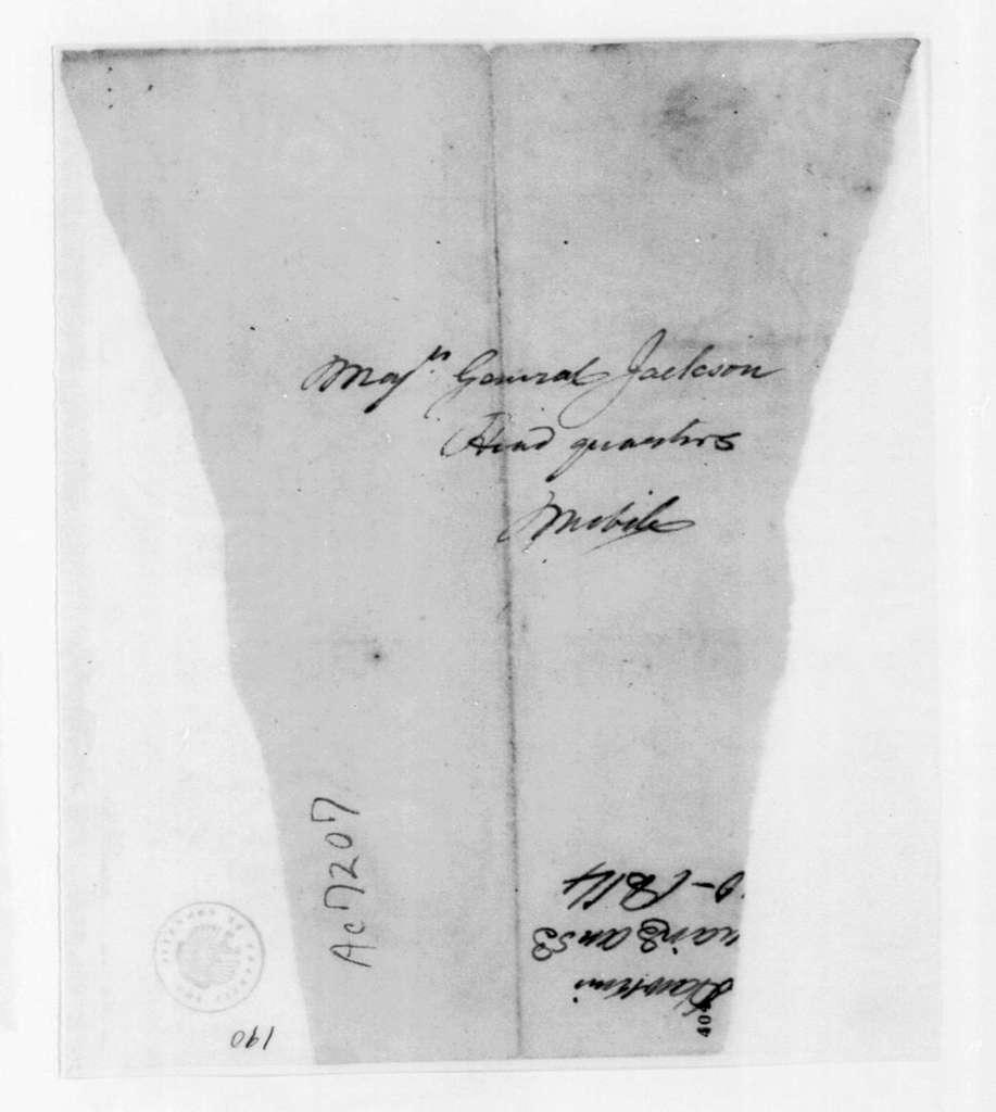 Hawkins to Andrew Jackson