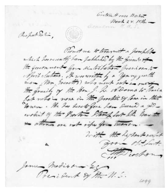 Henry Alexander Scammell Dearborn to James Madison, March 28, 1814.
