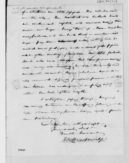 Henry Marie Brackenridge to Thomas Jefferson, May 30, 1814