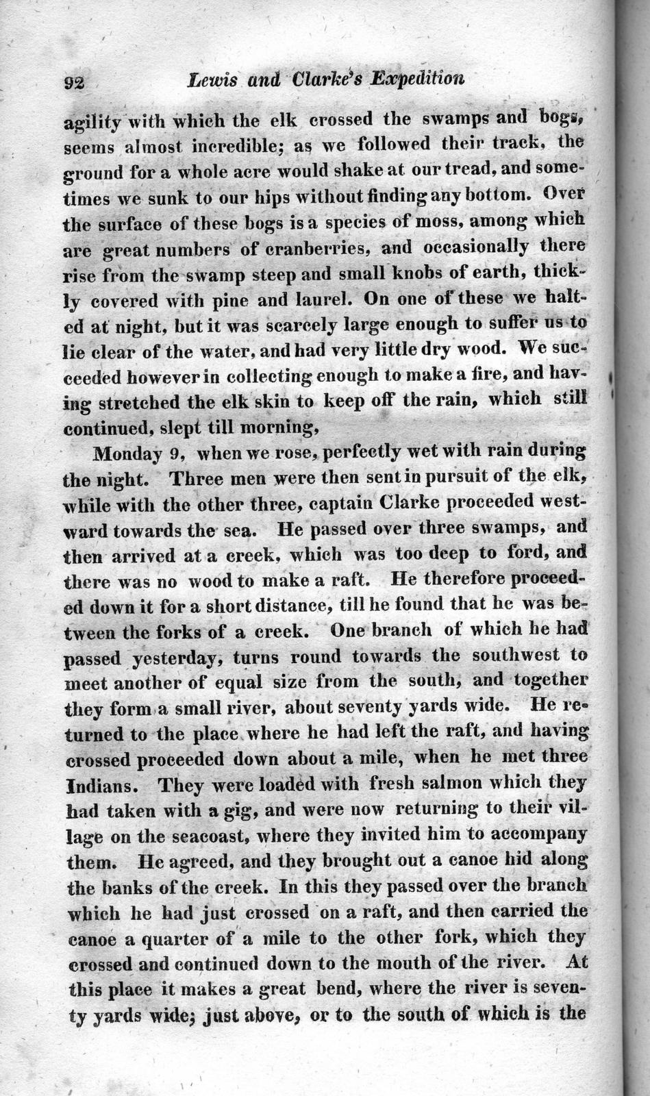 History of the expedition under the command of Captains Lewis and Clark, to the sources of the Missouri : thence across the Rocky mountains and down the river Columbia to the Pacific ocean ; performed during the years 1804-5-6 ; by order of the government of the United States, volume 2
