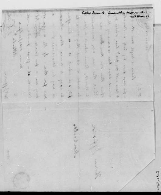 Isaac A. Coles to Thomas Jefferson, March 21, 1814
