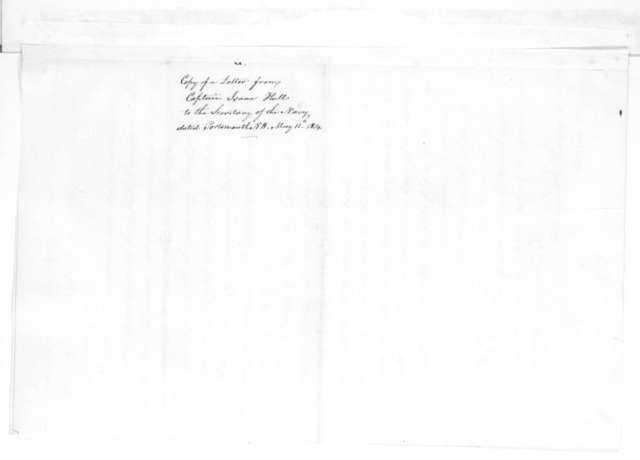 Isaac Hull to William Jones, May 11, 1814.