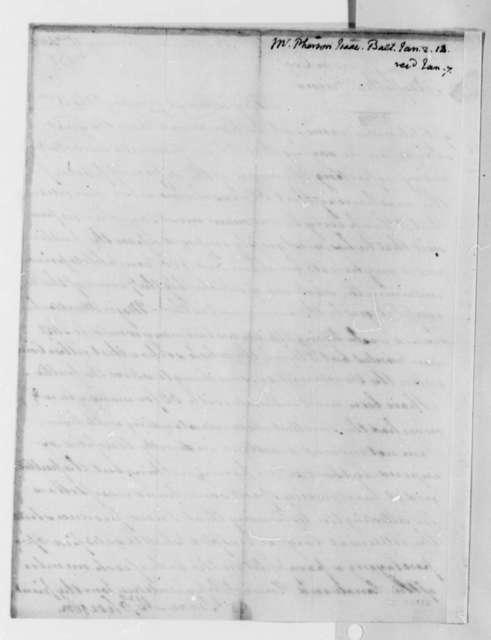 Isaac McPherson to Thomas Jefferson, January 2, 1814