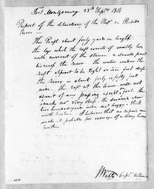 J. Watts, September 28, 1814