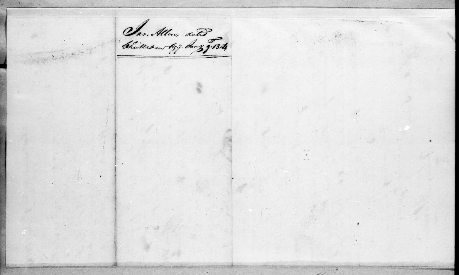 James Allen to Andrew Jackson, January 9, 1814