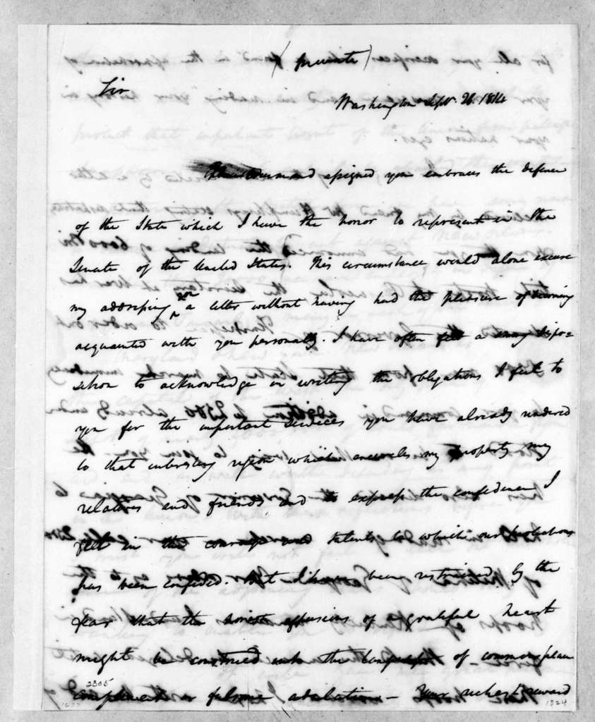 James Brown to Andrew Jackson, September 26, 1814