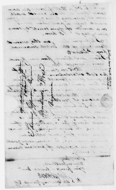James Cutbush to Thomas Jefferson, October 23, 1814
