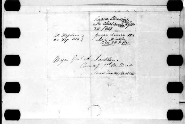 James Edward Dinkins to Andrew Jackson, September 24, 1814