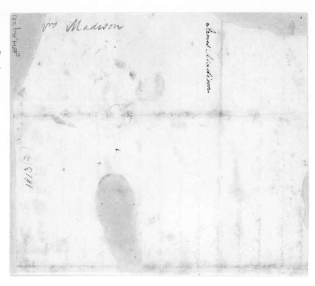 James Madison to Dolley Payne Madison, August 28, 1814. Fragment.
