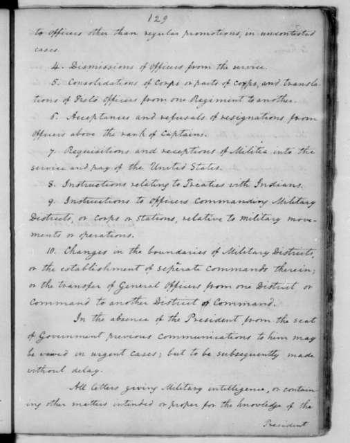 James Madison to John Armstrong, August 13, 1814.