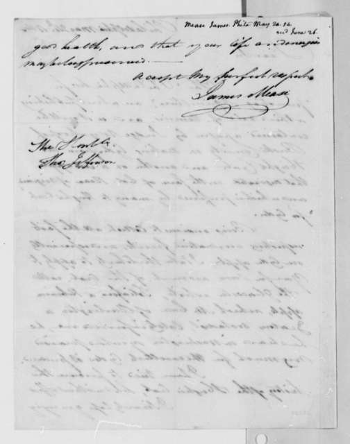 James Mease to Thomas Jefferson, May 24, 1814
