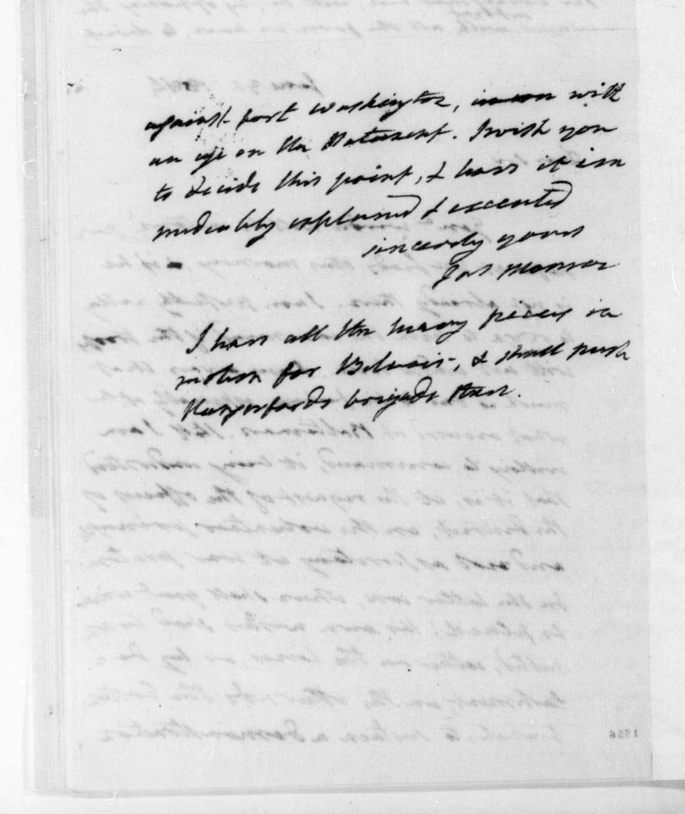 James Monroe to James Madison, August 31, 1814.