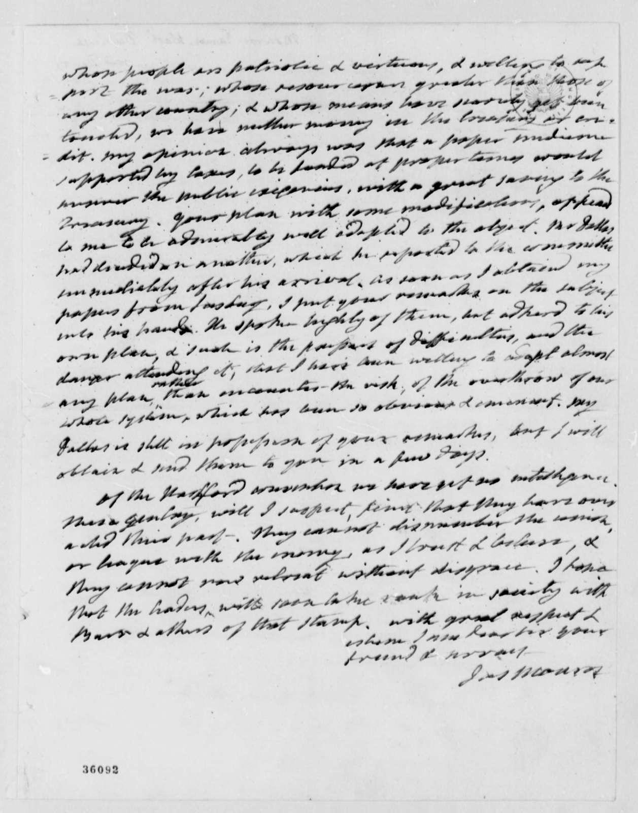 James Monroe to Thomas Jefferson, December 21, 1814