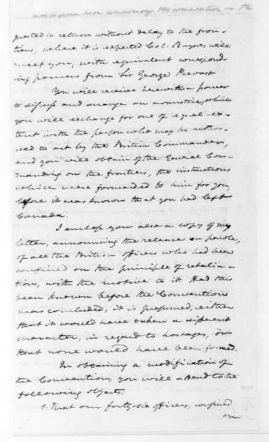 James Monroe to William H. Winder, May 7, 1814. With clipping.