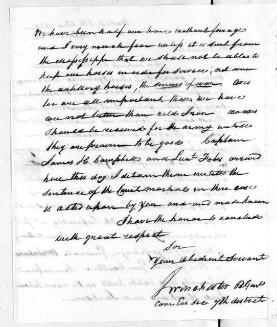 James Winchester to Andrew Jackson, December 8, 1814