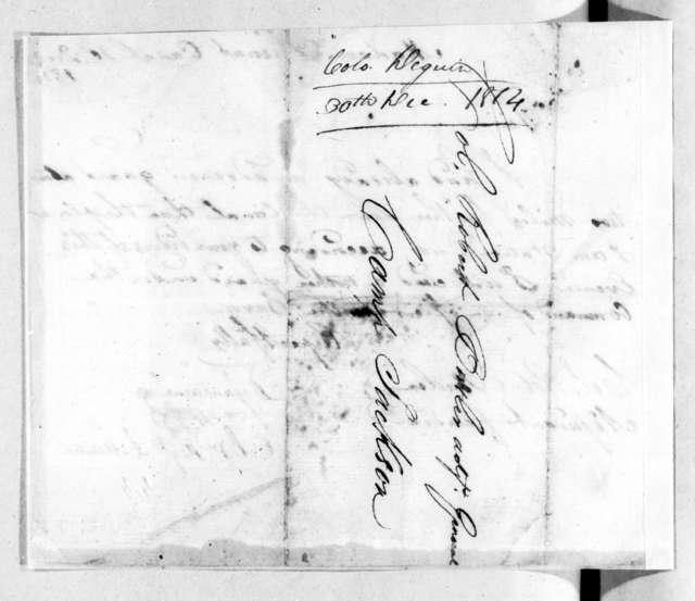 Jean Baptiste Dejan to Robert Butler, December 30, 1814