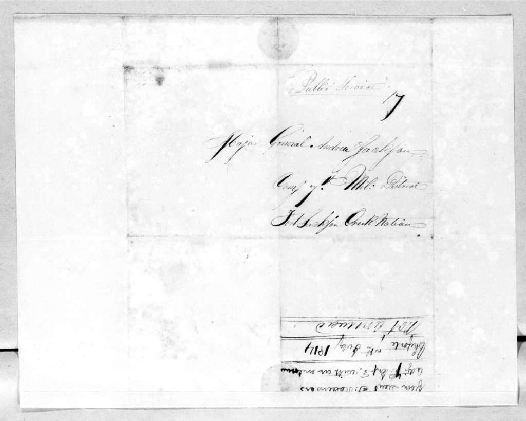 Jeoffrey Robinson to Andrew Jackson, July 7, 1814