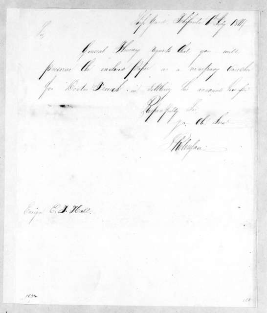 Jeoffrey Robinson to E. F. Hall, July 6, 1814