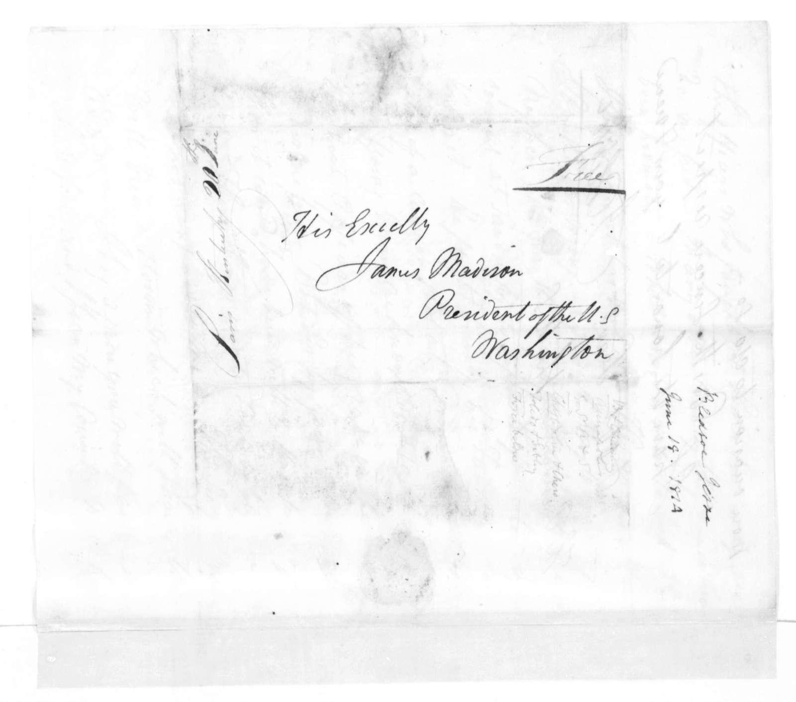 Jesse Bledsoe to James Madison, June 18, 1814.