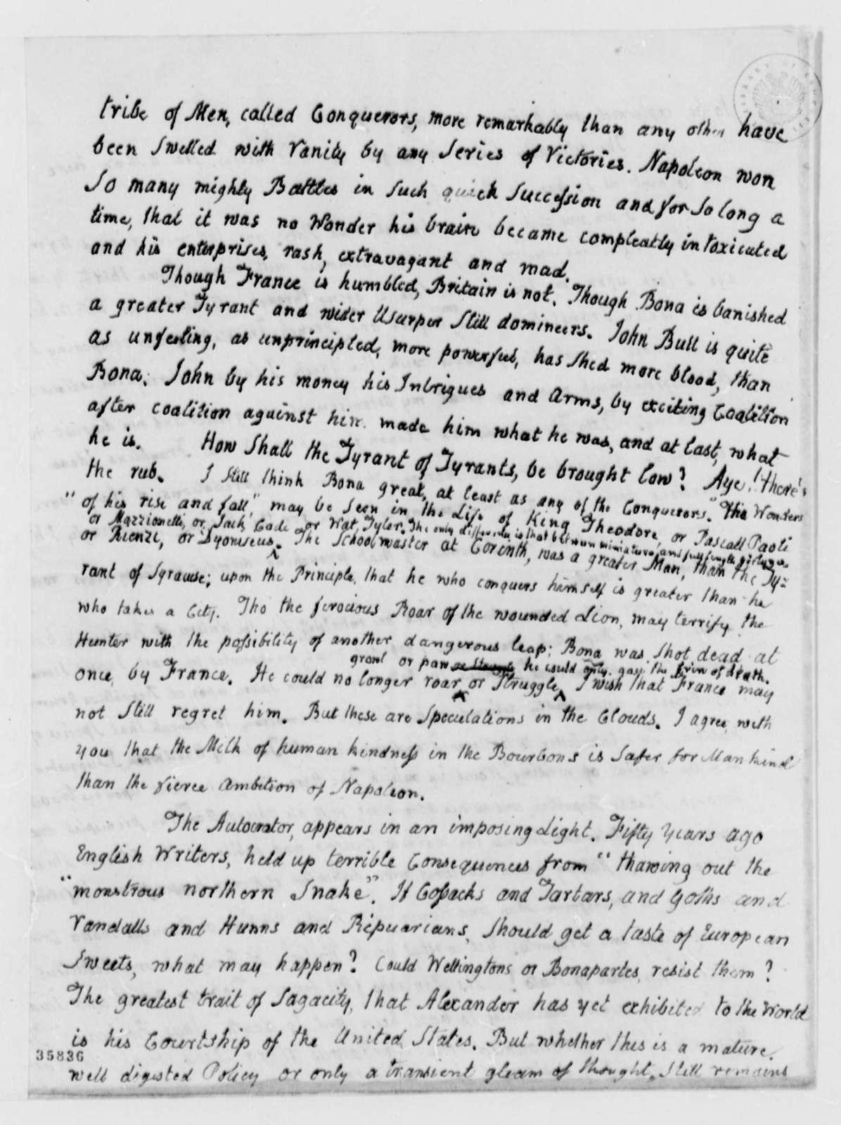 John Adams to Thomas Jefferson, July 16, 1814