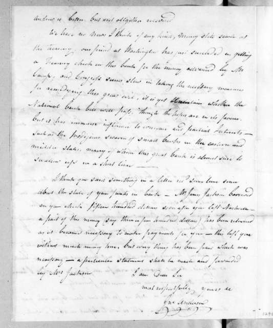 John Anderson to Andrew Jackson, December 23, 1814