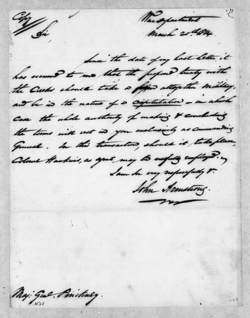 John Armstrong to Thomas Pinckney, March 20, 1814