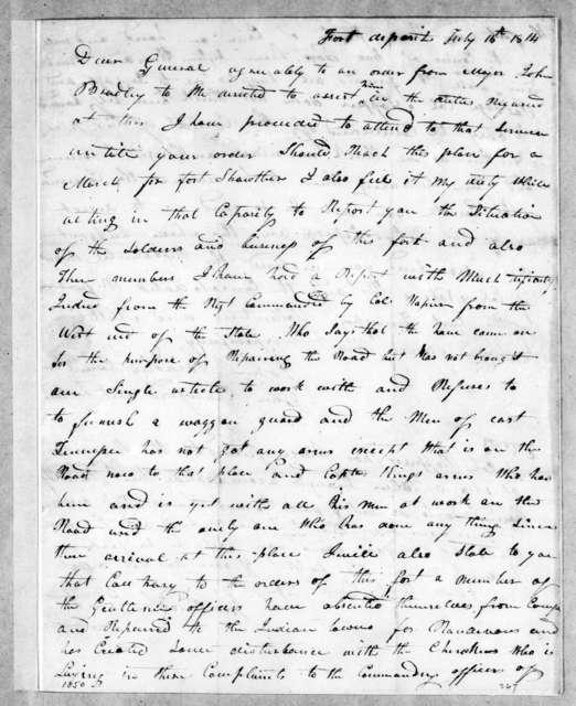 John Bradley to Andrew Jackson, July 15, 1814