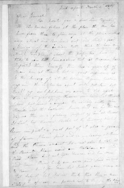 John Bradley to Andrew Jackson, March 1, 1814