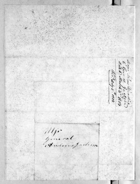 John Bradley to Andrew Jackson, March 3, 1814