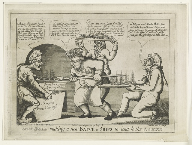 John Bull making a new batch of ships to send to the lakes / Charles, del et sculp.