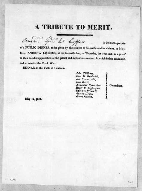 John Childress et al. to John Coffee, May 12, 1814