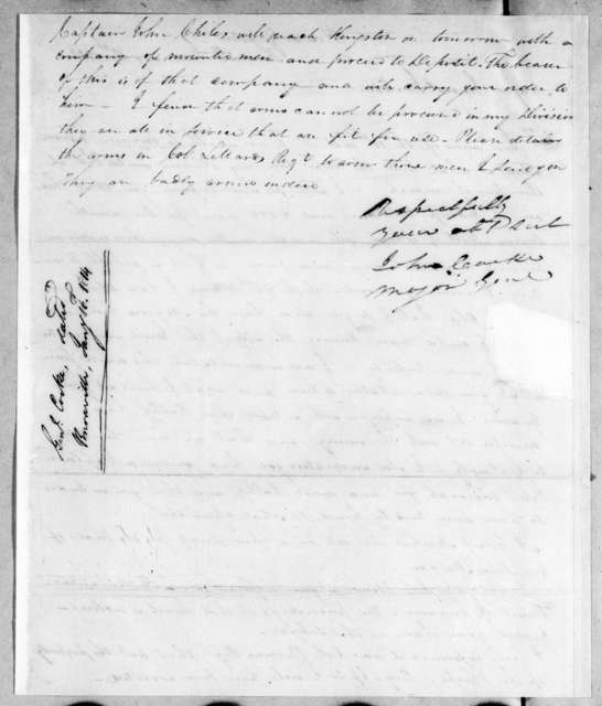 John Cocke to Andrew Jackson, January 16, 1814