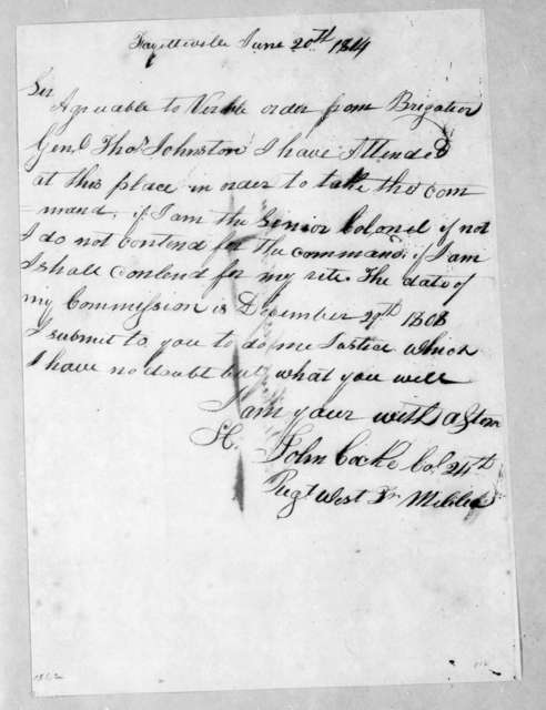 John Cocke to Robert Hays, June 20, 1814
