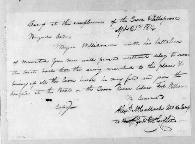 John Coffee, April 21, 1814