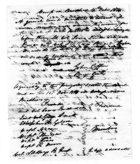 John Coffee, October 18, 1814