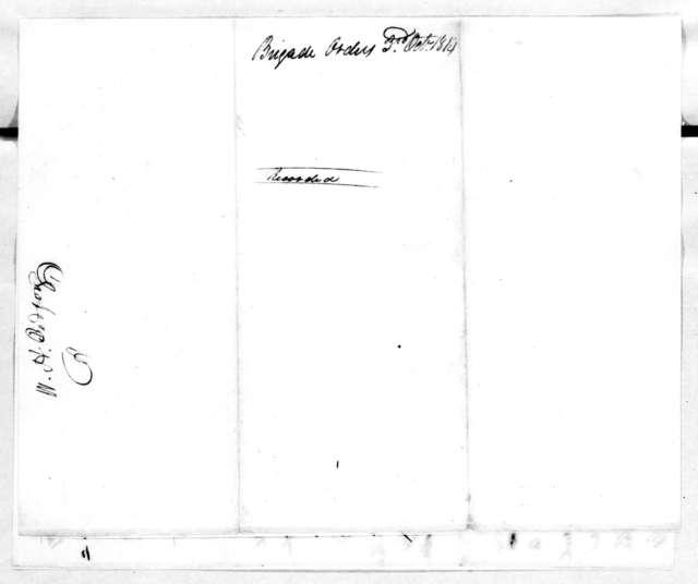 John Coffee, October 3, 1814