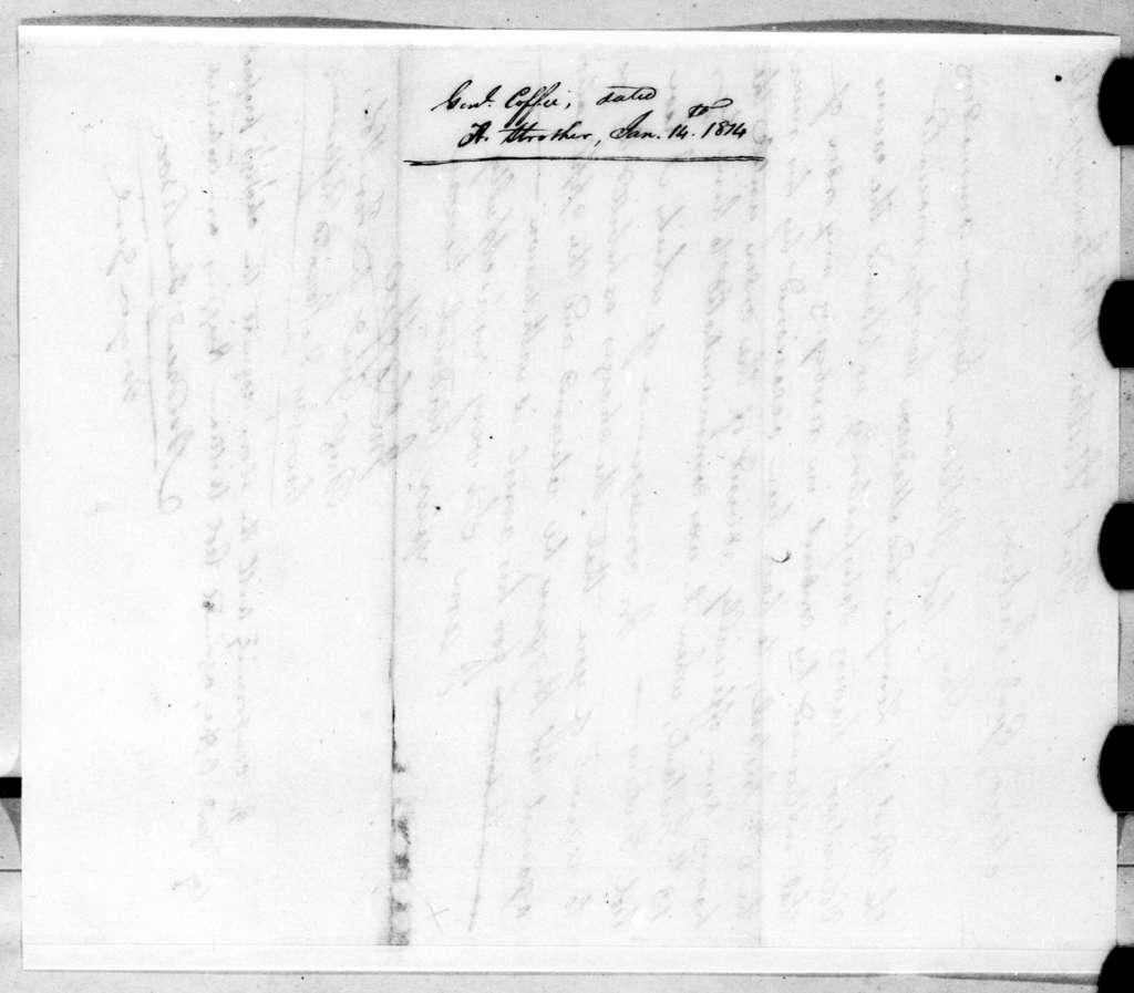 John Coffee to Andrew Jackson, January 14, 1814