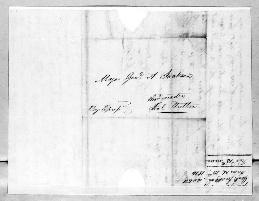 John Coffee to Andrew Jackson, March 12, 1814