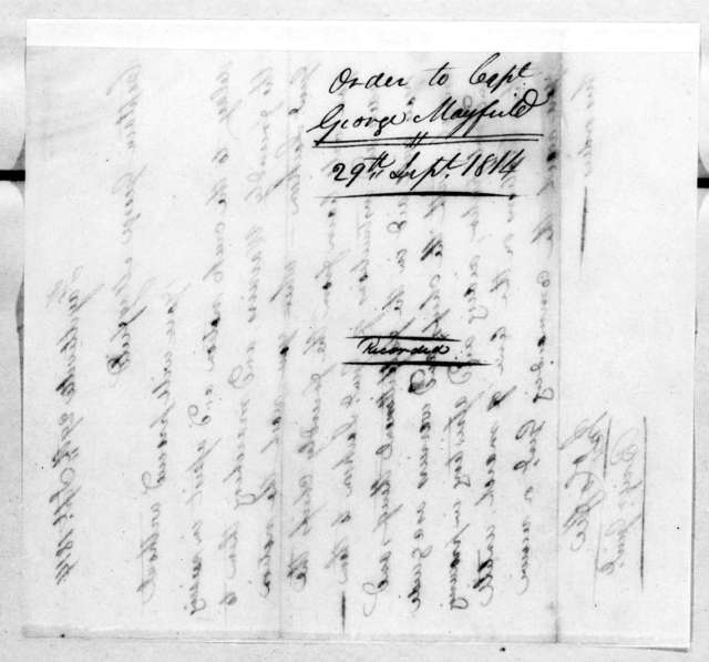 John Coffee to George Mayfield, September 29, 1814