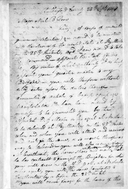 John Coffee to Neil B. Rose, September 25, 1814