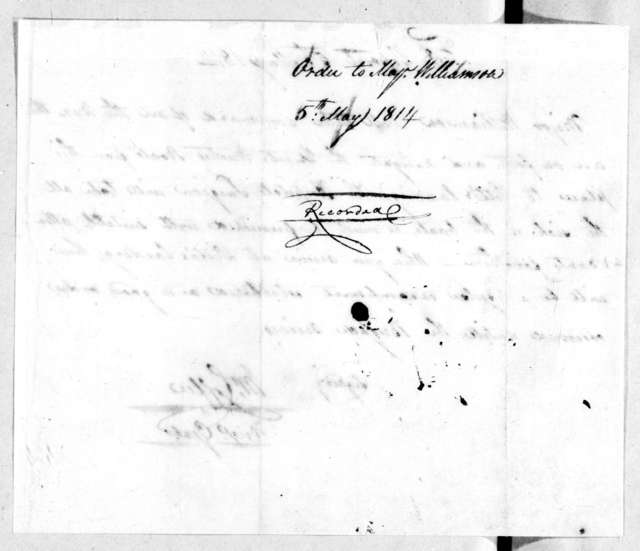 John Coffee to Thomas Williamson, May 5, 1814