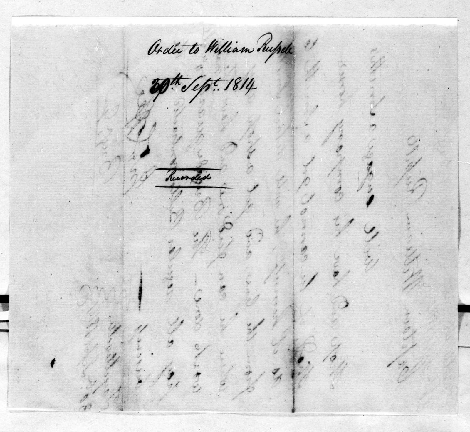 John Coffee to William Russell, September 30, 1814