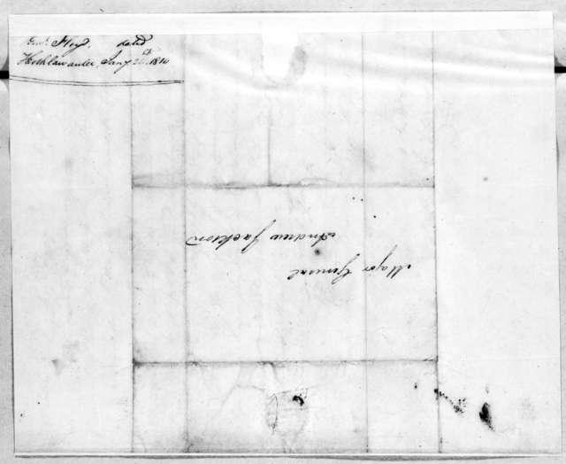 John Floyd to Andrew Jackson, January 24, 1814