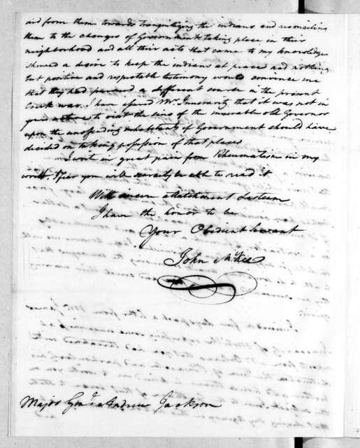 John McKee to Andrew Jackson, February 26, 1814