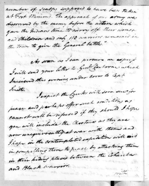 John McKee to Andrew Jackson, January 6, 1814