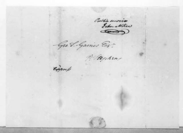 John McKee to George Strother Gains, August 10, 1814