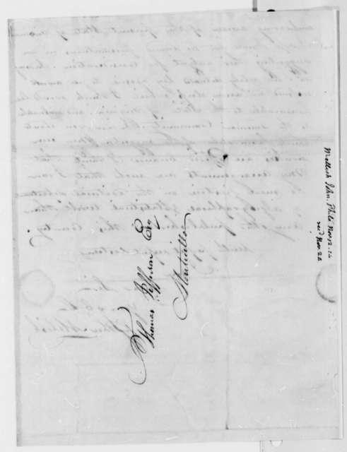 John Melish to Thomas Jefferson, November 12, 1814