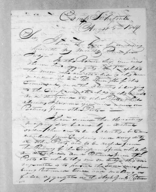John Nicks to Robert Butler, August 8, 1814